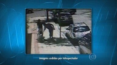 Câmera de segurança registra agressão a flanelinha - O crime aconteceu no bairro São Luiz, na região da Pampulha, em Belo Horizonte.