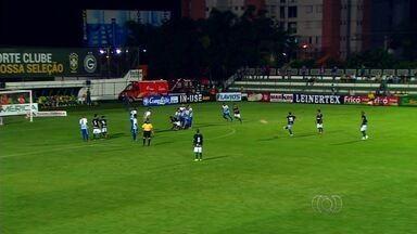 Com Diogo Barbosa nas tribunas, Goiás vence o Grêmio Anápolis - Alviverde bate o Azulão por 1 a 0 com gol de falta de Felipe Menezes