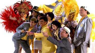 Bastidores da gravação da Escola de Samba Amarelo e Cinza - Veja como os atores se saíram na gravação do clipe