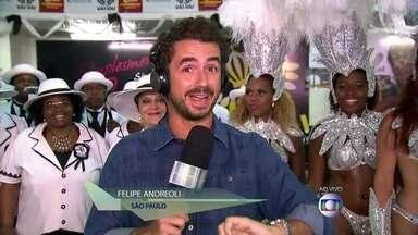 Vai-Vai de SP conquista seu 15º campeonato - Felipe Andreoli acompanha celebração dos componentes da escola de São Paulo