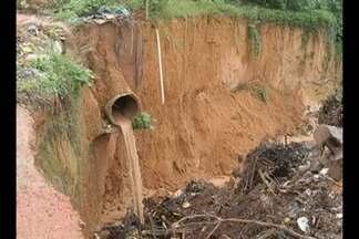 Técnicos da UFPA devem chegar esta semana em Rondon para verificar a situação da erosão - Nove pontos críticos de desmoronamento estão sendo monitorados pela Defesa Civil. Os moradores temem que o período de chuvas agrave a situação.