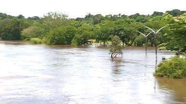 Nível do Rio Paraguai sobe e coloca moradores em alerta em Barra do Bugres (MT) - Nível do Rio Paraguai sobe e coloca moradores em alerta em Barra do Bugres (MT).