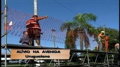 Montagem da passarela do samba é liberada em Uruguaiana, RS - Desfiles serão realizados nas datas previstas.