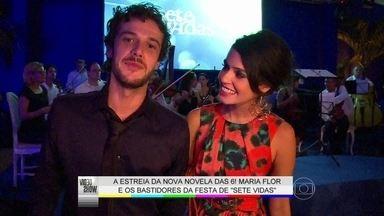 Maria Flor mostra os bastidores da festa de lançamento de 'Sete Vidas' - A atriz fala com o elenco e revela tudo o que acontece por trás das câmeras