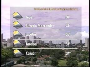 Pancadas de chuva são esperadas nesta tarde no Oeste Paulista - Confira como fica a previsão do tempo para a região.