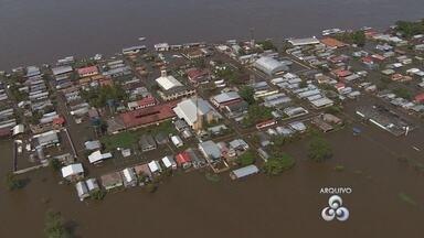 Cheia faz subir para sete número de cidades em emergência no Amazonas - Boca do Acre é o sétimo município a declarar emergência por causa da subida do nível dos rios.
