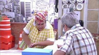 Lucicreide arruma barraco em loja - Lucicreide arruma barraco em loja