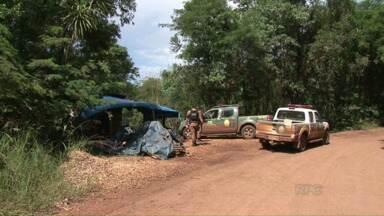 Segurança reforçada na sede da Araupel em Quedas do Iguaçu - Preocupação é grande porque o número de assentados não para de aumentar