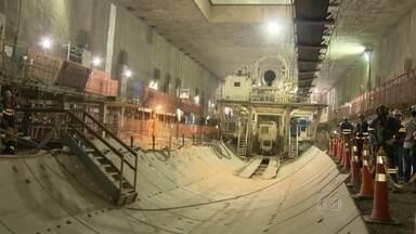 Previsão é de que o Tatuzão comece a funcionar em junho de 2016 - A escavação da Linha 4 do metrô começa na altura da Praça General Osório. A perfuração recomeça no início de abril, embaixo da avenida Visconde de Pirajá.