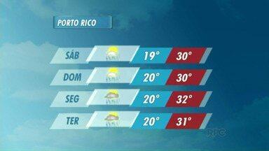Veja como fica o tempo neste fim de semana em Porto Rico - No sábado (14), ainda há previsão de chuva na região.