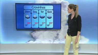 Veja como fica o tempo na região de Ribeirão Preto neste sábado (14) - A previsão é de chuva e de tempo abafado durante todo o dia.