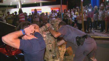 Policiais militares da região fazem treinamento no Centro de Descalvado - Policiais militares da região fazem treinamento no Centro de Descalvado