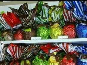 Comércio começa a registrar aumento na procura de ovos de páscoa - Comércio começa a registrar aumento na procura de ovos de páscoa
