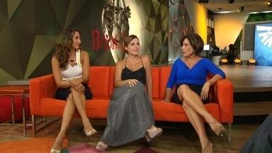 Atrizes falam sobre a próxima novela das 21h - O Fantástico recebeu na redação três super atrizes, Glória Pires, Adriana Esteves e Camila Pitanga, que são as estrelas da próxima novela das 21h, a Babilônia.