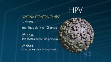 Ministério da Saúde amplia vacinação contra o vírus HPV - Além das meninas entre 11 e 13 anos, a campanha de vacinação também foi estendida para crianças com idade entre nove e dez anos. O médico Luís Fernando Correia fala sobre a campanha de imunização.