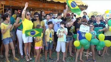 Interior do Maranhão protesta contra o governo federal - Em Balsas e Imperatriz, os manifestantes pediram o fim da corrupção e a saída da presidente Dilma Rousseff.