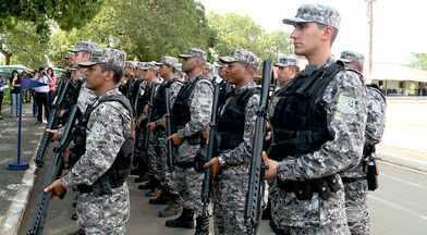 Policiais da Força Nacional já estão nas ruas de Teresina - Policiais da Força Nacional já estão nas ruas de Teresina