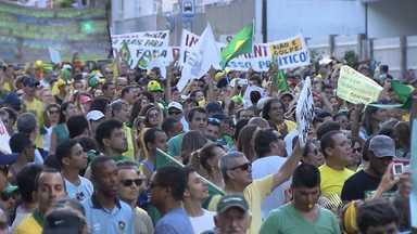 Milhares de baianos saíram às ruas em protestos contra corrupção - Marchas foram realizadas no domingo (15) em cidades na Bahia