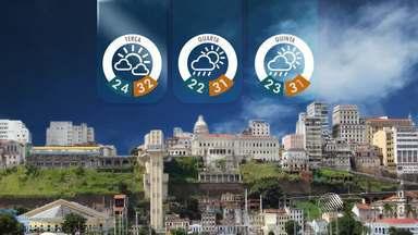 Veja a previsão do tempo na terça-feira (17), na Bahia - Dia será de tempo instável em quase toda a Bahia