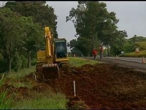 Começam obras de construção de acesso à UFFS - O local já está sendo sinalizado e as obras devem durar três semanas.