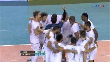 Cruzeiro derrota o Minas e garante disputa pelo título da Superliga Masculina de Vôlei - Time mineiro faz 3 sets a 0 e vai para a quinta final seguida na competição.