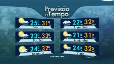 Veja a previsão do tempo para esta terça-feira (31) - Em São Luís muitas nuvens com curtos períodos de sol e chuvas em algumas áreas. Temperaturas variam entre 25 e 31 graus.