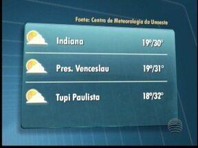 Confira a previsão do tempo para esta quarta-feira - Veja como devem ficar as temperaturas nas cidades do Oeste Paulista.