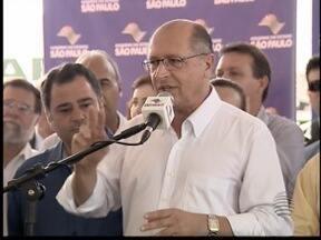 Governador visita Oeste Paulista e anuncia obras - Alckmin comentou sobre aumento autorizado da água.