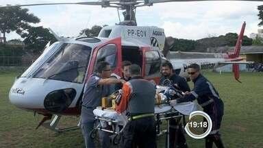 Pedreiro fica ferido após laje de obra desabar em São José dos Campos - Vítima teve traumatismo craniano e foi levado para o Hospital da Vila Industrial.