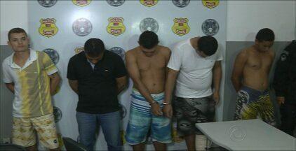 Grupo suspeito de praticar assaltos foi preso em João Pessoa - Um dos integrantes é acusado de assaltar imobiliária no começo desta semana.