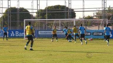 Grêmio esconde escalação para jogo contra o Novo Hamburgo - Nos dois últimos treinos, Felipão escondeu o jogo. Partida acontece nesta quinta (9) na Arena.