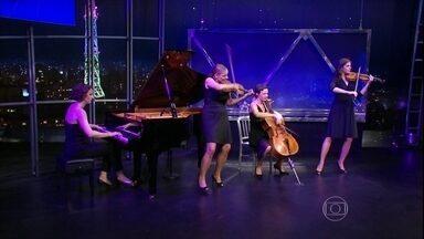 Salut Salon apresenta mais um clássico no palco do Programa do Jô - Quarteto alemão foi uma das atrações do programa de quinta-feira