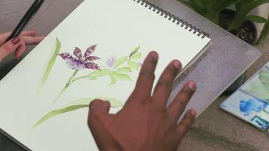 Hoje é dia de Jardim Botânico: Ilustradores - Alexandre Henderson faz uma visita ao curso de ilustração no jardim botânico