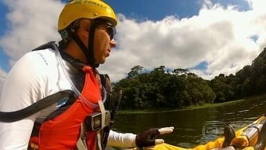 Dan Robson encontra natureza preservada em trecho da Represa Billings - O trajeto percorrido foi por São Bernardo do Campo, onde o esportista também encontrou belas paisagens. Durante 35 dias, Dan Robson vai procurar os pontos mais poluídos do reservatório.