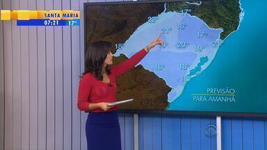 Chuva deve predominar no RS nesta quarta (15) - Mínima deve ser de 19 graus em Porto Alegre.