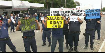 Guardas municipais estão em greve em João Pessoa - A categoria fez protesto ontem na Capital, pedindo melhorias de salário e das condições de trabalho.