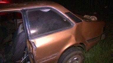 Acidente entre três carros deixa pelo menos oito mortos na PR-090 - Acidente foi entre Ibiporã e Sertanópolis, no norte do Paraná.