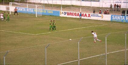 Veja os gols do empate entre Santa Cruz-PB x Miramar - Jogo terminou empatado em 1 a 1 e foi disputado em Santa Rita, no Estádio Teixeirão.