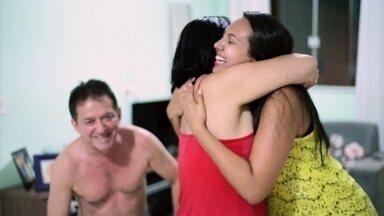 Fátima mostra vídeo de casal anunciando a gravidez para os amigos - Casal registra a reação da família e amigos ao saberem da notícia