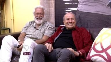 Ana Maria Braga mostra convidados: Stênio Garcia e Antonio Fagundes - Atores vão ao programa para falar da carreira e da parceria no seriado Carga Pesada, sucesso da TV Globo