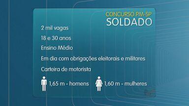 Polícia Militar de São Paulo abre concurso para soldado - Inscrições podem ser feitas no site da Vunesp até o dia 22 de maio e taxa é de R$ 50.