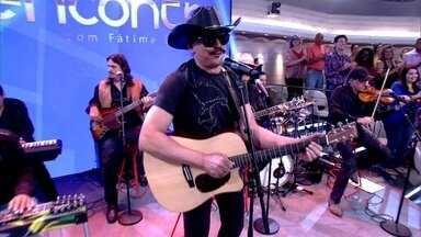 Eduardo Araújo abre o Encontro cantando 'Moreninha Linda' - Cantor embala plateia com sucesso