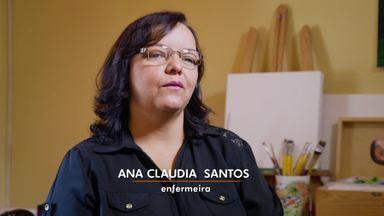 Sonho meu: Ana Claudia - A enfermeira Ana Claudia sonha ser pintora. Será que ela vai trocar de profissão?