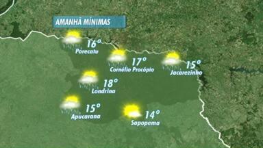 Previsão de tempo instável em Londrina - Pode chover nesta terça-feira na região norte do Estado.