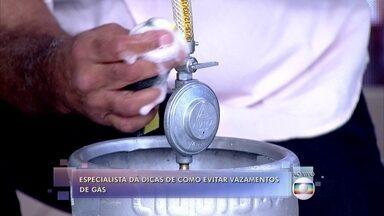 Especialista dá dicas de como evitar vazamentos de gás - Moacyr Duarte mostra cuidados essenciais com botijões e aquecedores