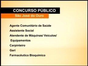 Concurso em São José do Ouro, RS, está com inscrições abertas - São dezenove vagas para doze cargos na prefeitura da cidade.