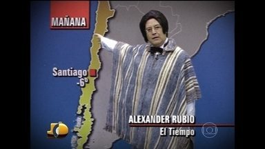 """Alex homenageia Michelle Loreto - Jornalista elogia o desempenho dele como """"moço do tempo"""""""