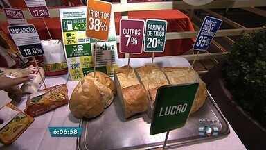 Panificadora vende pão francês sem impostos imbutidos em preço, em Goiânia - A ação visa conscientizar sobre a alta carga tributária e o impacto dos impostos no preço final de produtos e serviços.
