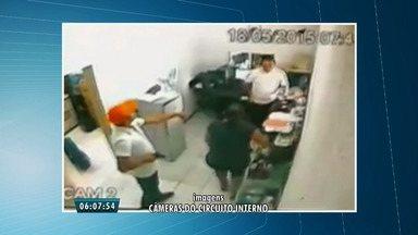Assalto a posto de gasolina passa despercebido à polícia, no Bairro Eusébio, em Fortaleza - Veja imagens registradas por câmeras de segurança do local.