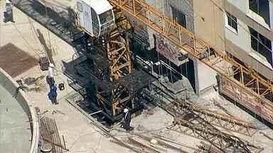Operário morre depois de cair de guindaste em Águas Claras - Ele caiu de uma altura de 15 metros enquanto trabalhava na construção de um prédio em Águas Claras.